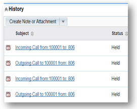SugarCRM Call logs