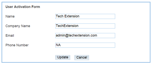 sugarcrm-Activation-setting